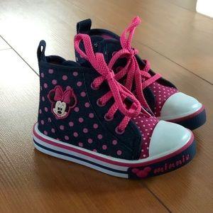 Disney Minnie Mouse Polkadot High Top Sneaker